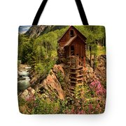 Wildflowers And Clouds Tote Bag