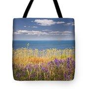 Wildflowers And Ocean Tote Bag