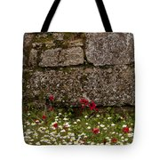 Wildflowers And Olympia Ruins   #9508 Tote Bag
