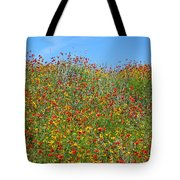 Wildflowers And Sky 2am-110541 Tote Bag