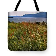 Wildflowers At Lobster Cove Head In Gros Morne Np-nl Tote Bag