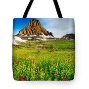 Wildflowers At Logan Pass Tote Bag