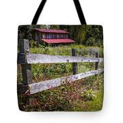 Wildflowers At The Fence Tote Bag