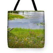 Wildflowers By Heron Pond In Grand Teton National Park-wyoming Tote Bag