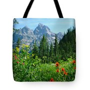 1m9372-v-wildflowers In Cascade Canyon, Tetons Tote Bag