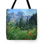 1m9371-h-wildflowers In Cascade Canyon, Tetons Tote Bag