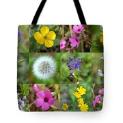 Wildflowers Mosaic Tote Bag