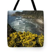 Wildflowers On An Atypical Winter's Day On The Oregon Coast Tote Bag