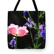 Wildflowers On Black Tote Bag