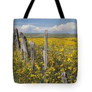 Wildflowers Surround Rustic Barb Wire Tote Bag
