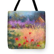 Wildrain Retreat - Lavender And Poppies Tote Bag