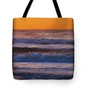 Wildwood Beach Golden Sky Tote Bag