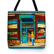 Wilenskys Art Famous Blue Door Posters Prints Cards Originals Commission Montreal Painting Cspandau  Tote Bag