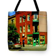 Wilenskys Famous Light Lunch Diner Corner Clark And Fairmount Montreal City Scene Carole Spandau Tote Bag