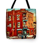 Wilenskys Hockey Art Paintings Originals Commissions Prints Montreal Deps Street Art Carole Spandau  Tote Bag