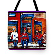 Wilenskys Hockey Art Posters Prints Cards Originals Commission Montreal Paintings Contact C Spandau Tote Bag