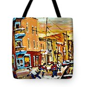 Wilenskys Hockey Paintings Montreal Commissions Originals Prints Contact Artist Carole Spandau  Tote Bag