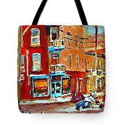 Wilenskys Paintings Hockey Art Prints Originals Commissions Contact Popular Montreal Artist Cspandau Tote Bag