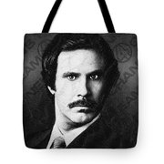 Will Ferrell Anchorman The Legend Of Ron Burgundy Drawing Tote Bag