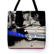 Will Rogers  Jr. Grand Marshall With Polo Mallet Tucson Arizona University Of Az Centennial  1985 Tote Bag