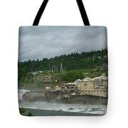 Willamette Falls River Scene  Tote Bag