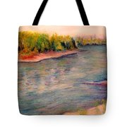 Willamette River Reflections - Morning Light Tote Bag