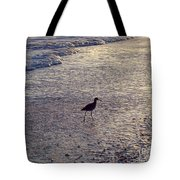 Willet In The Waves Tote Bag