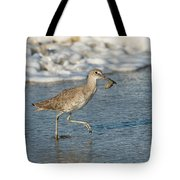 Willet With Sand Crab Tote Bag