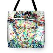 William Burroughs Watercolor Portrait Tote Bag