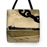 William G Mather In Sepia Tote Bag