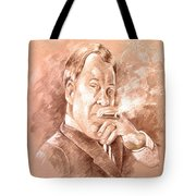 William Shatner As Denny Crane In Boston Legal Tote Bag