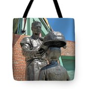 Williams And The Boy Tote Bag by Barbara McDevitt