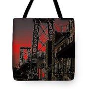 Williamsburg Bridge Abstract Tote Bag