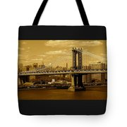 Williamsburg Bridge New York City Tote Bag