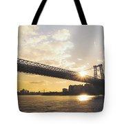 Williamsburg Bridge - Sunset - New York City Tote Bag