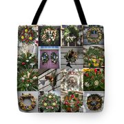 Williamsburg Christmas Collage Squared 2 Tote Bag
