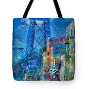 Williamsburg Street Abstract Tote Bag