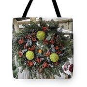 Williamsburg Wreath Squared Tote Bag
