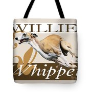Willie The Whippet Tote Bag by Liane Weyers