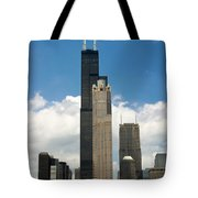 Willis Tower Aka Sears Tower Tote Bag by Adam Romanowicz