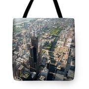 Willis Tower Southwest Chicago Aloft Tote Bag