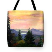 Willoughby Gap From Burke Mountain Tote Bag