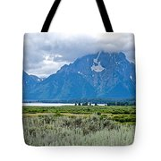 Willow Flats Overlook In Grand Teton National Park-wyoming   Tote Bag
