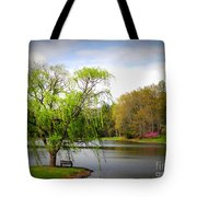 Willow Lake Tote Bag by Crystal Joy Photography