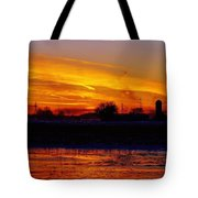 Willow Rd Sunset 2.27.2014 Tote Bag