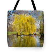 Willow Tree Water Reflection Tote Bag by Matthias Hauser