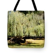 Willow Tree With Job Verse Tote Bag