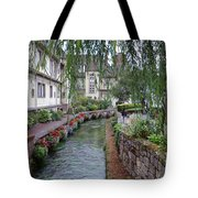 Willows Over The River Tote Bag