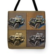 Willys Jeep Mb Car Drawing Tote Bag