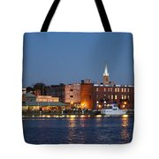 Wilmington At Night Tote Bag